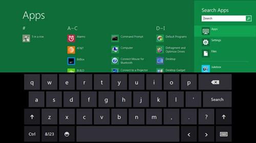Windows 8 teclado botones granes
