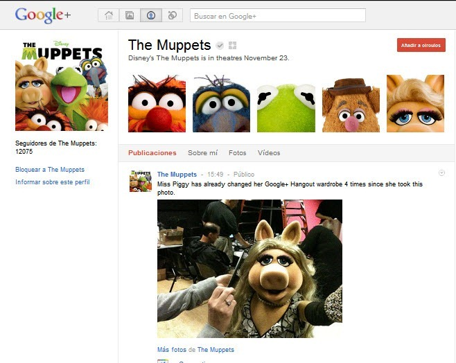 The Muppets en Google plus