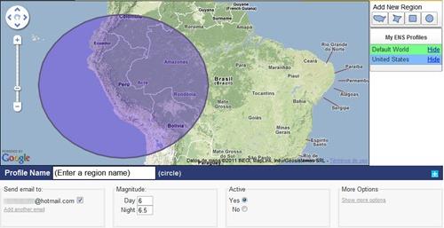 Alerta de terremoto con USGS