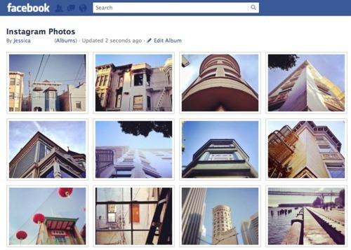 Instagram fotos en Facebook