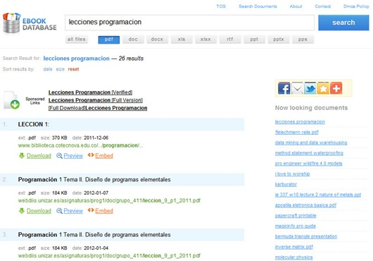 Ebook database descargar docuementos