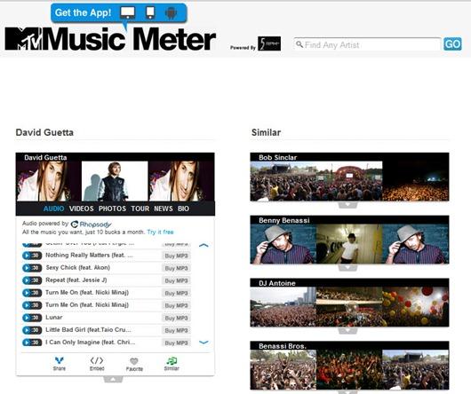 MTV Music Meter descubre música
