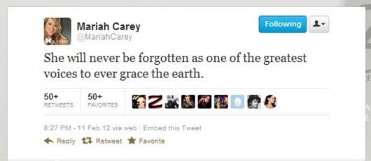 whitney Houston 1 mensaje Carey