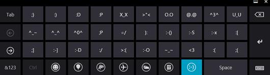 Emoticonos y símbolos en Windows 8