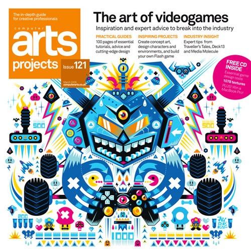 Portada de revista arts-projects-issue-121