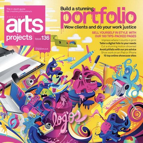 Portada de revista arts-projects-issue-136