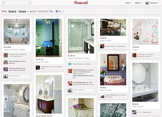 Top categorias de Pinterest