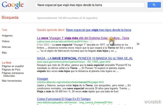 Google Quick Scroll extensión 2