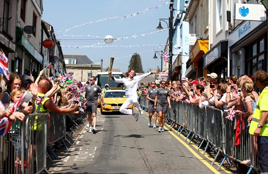 Britain Olympic Torch Relay