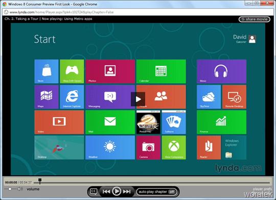 Curso Windows 8 por Lynda.com