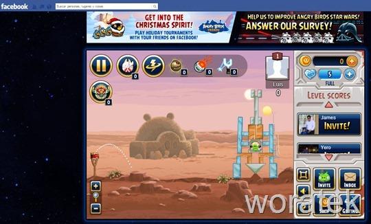 22-12-2012 angry birs star wars en facebook