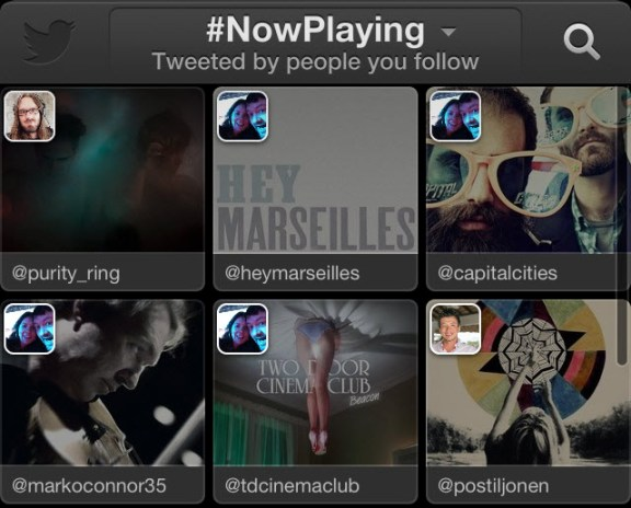 Twitter música, servicio web y app para ios