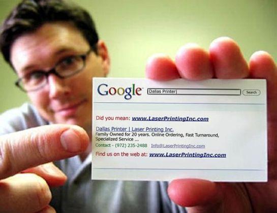 Tarjeta de visita al estilo Google
