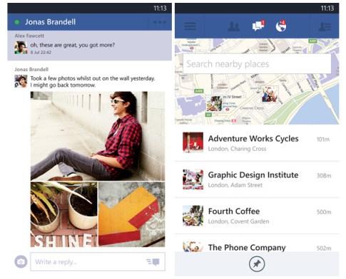 Facebook para Windows Phone actualización
