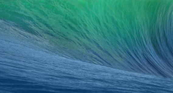 Fondo de pantalla dentro de la ola en color verde y azul