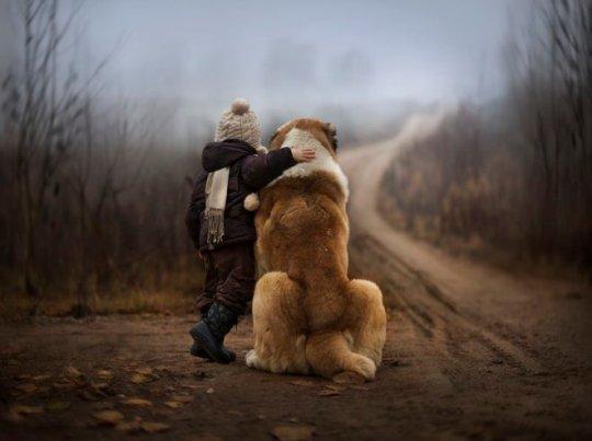 Foto amistad con los animales