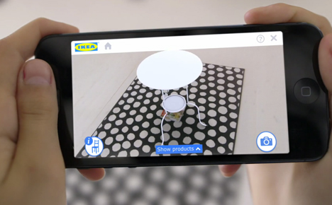 Aplicación Ikea para comprar muebles online usando realidad aumentada