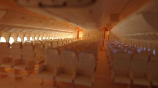 Los asientos de avión de papel