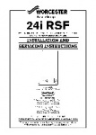 Worcester 24i RSF Installation and Servicing Instructions
