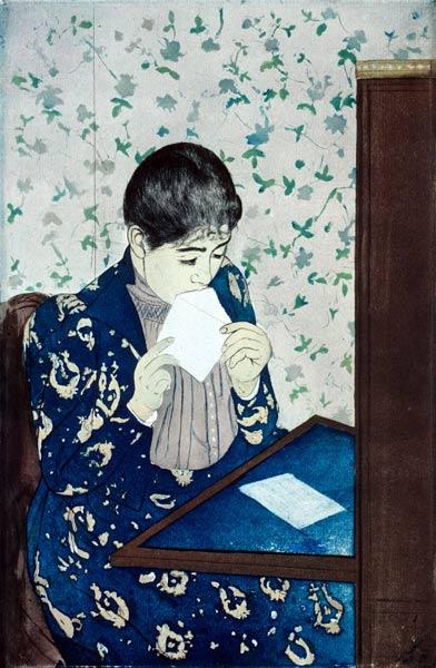 Mary Cassatt The Letter  Worcester Art Museum