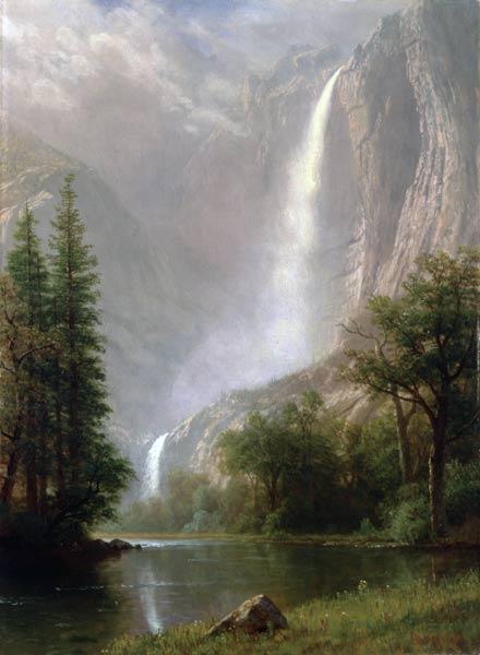 Albert Bierstadt Yosemite Falls  Worcester Art Museum
