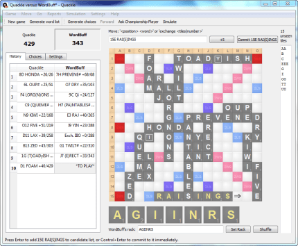 free scrabble game player