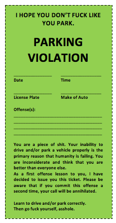 Parking Tickets Template