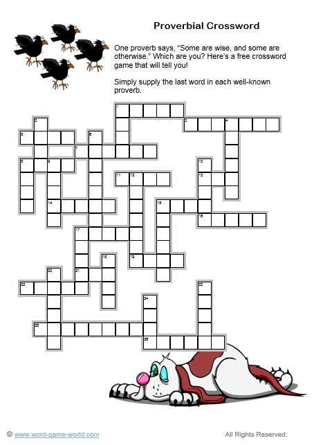 Our Free Crossword Games Are Loads of Fun!