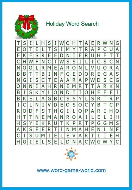Holiday Word Search For Christmas Fun