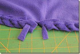 Another border technique, using a single piece of fleece