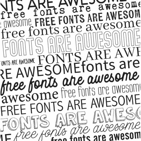 Awesome Free Fonts - Word Art World