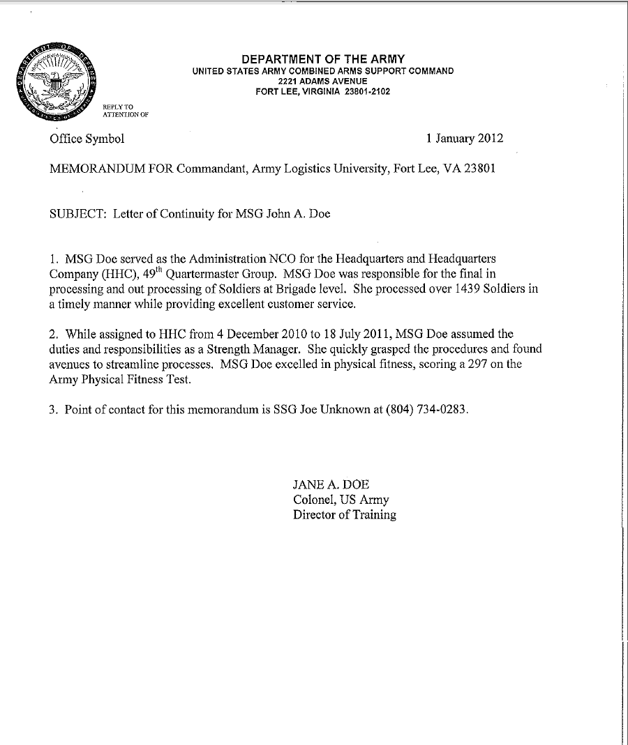 5  army memorandum templates