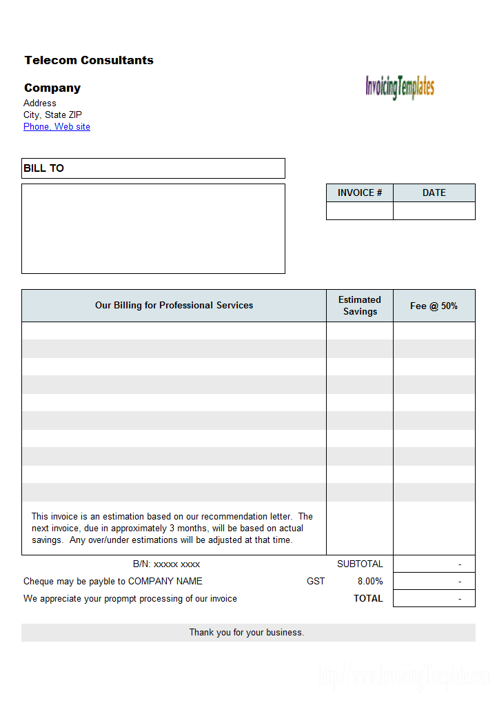 it consultant invoice template