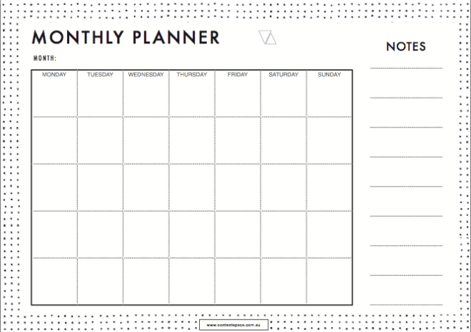 5 Monthly Planner Templates Word Excel Templates