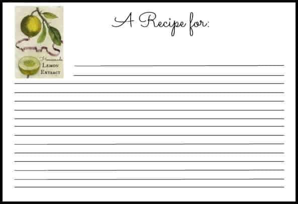 word 2007 recipe card