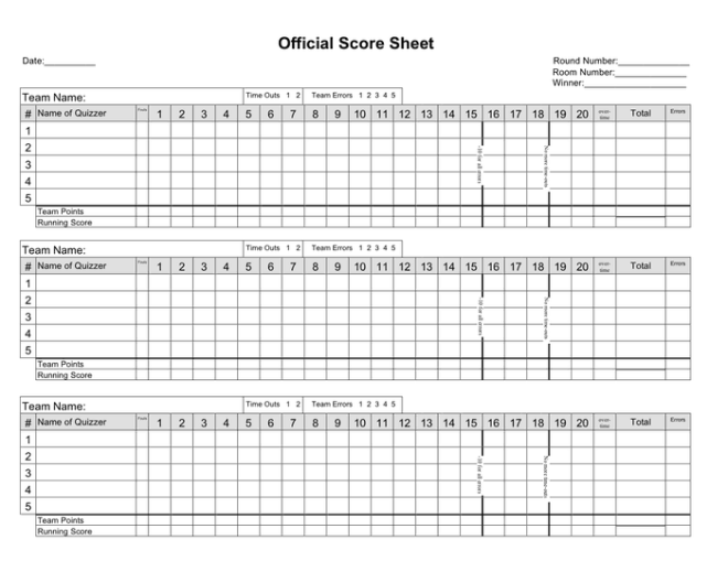 Badminton score sheet doubles pdf