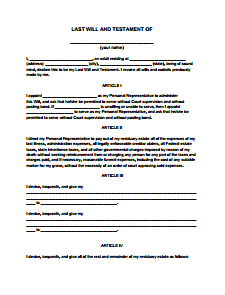 5 last will and testament templates word excel templates