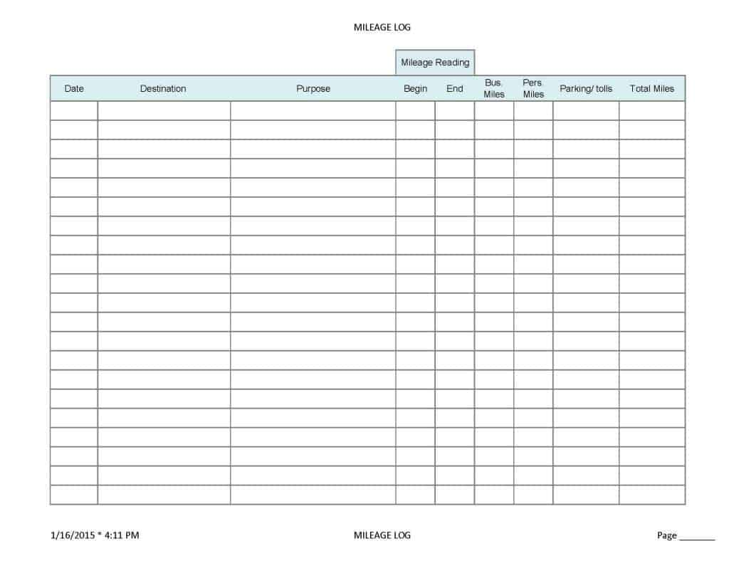 6 Mileage Form Templates