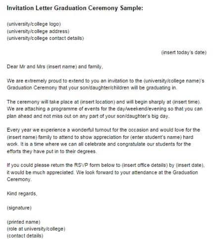 opening invitation letter
