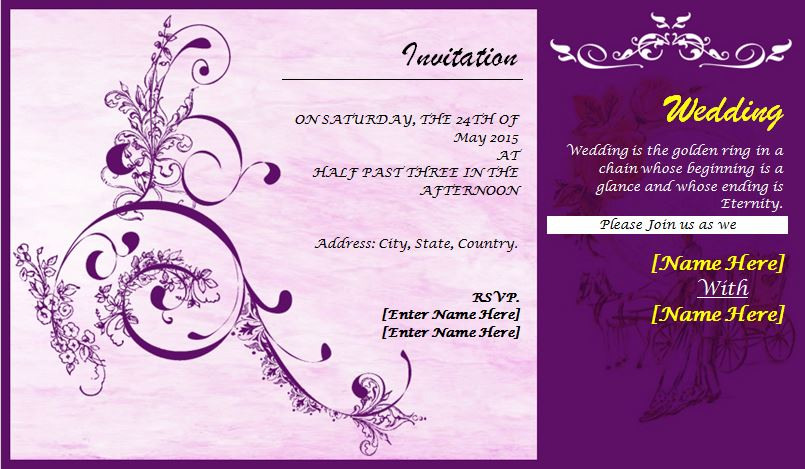 wedding invitation wording wedding invitation template libreoffice
