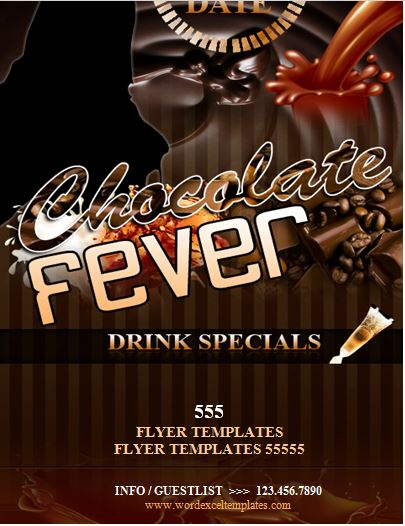Chocolate Fever Night Club Flyer  Word  Excel Templates