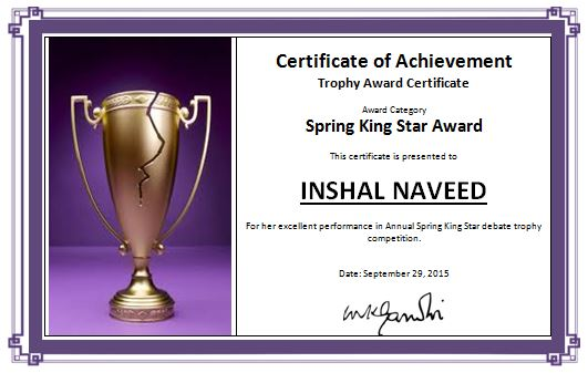 Award plaque template free download 20 high school for Award certificate template word