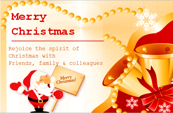 MS Word Colorful Christmas Card Templates Word Amp Excel