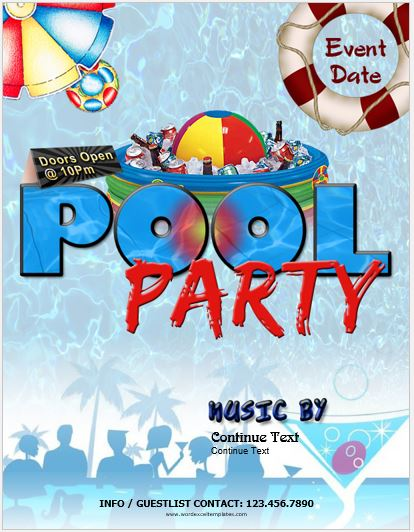 party flyer templates word