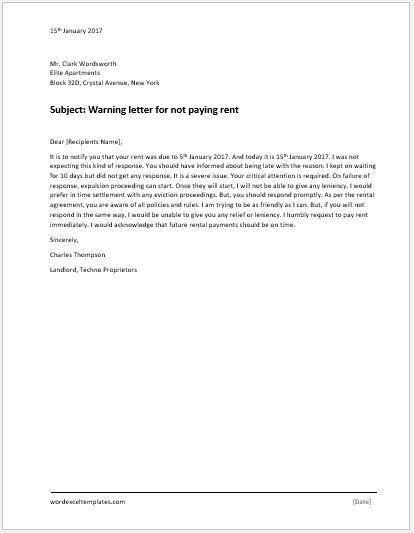 violation letter template