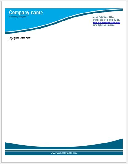 Business Letterhead Templates For MS Word Word Amp Excel