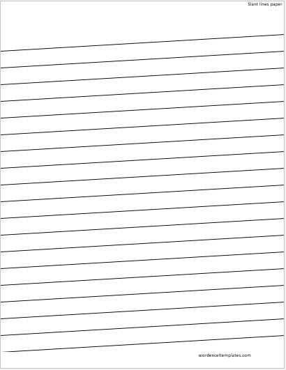 MS Word Lined Papers for Handwriting Practice  Word