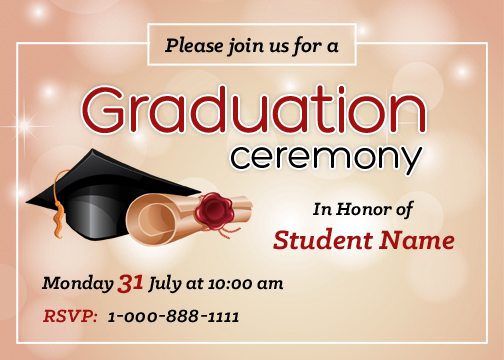 graduation party invitation cards for