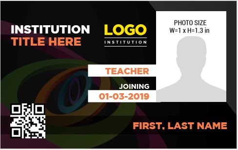 Teacher Photo ID Badge Templates for MS Word  Word  Excel Templates