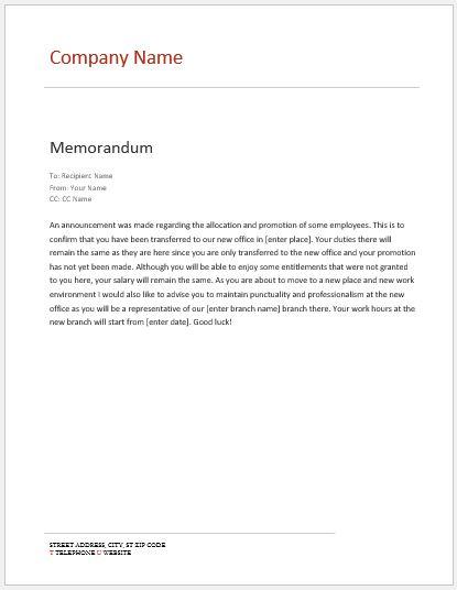 download memo templates